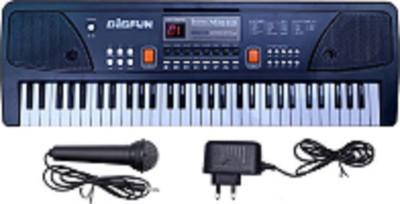 KIDLAND BigFun 61 keys Electronic Piano Keyboard with LED Display & Microphone (Black)(Black)