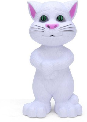 KIDLAND Intelligent Talking Tom Cat With Touch Recording Story Rhymes & Songs (White)(White)