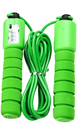 GOCART 2.8m Adjustable Plastic Skipping Rope Gym Sports Fitness Crossfit Exercise Fast Speed Counting Jump Skip Rope Freestyle Skipping Rope(Green, Pack of 1)  available at flipkart for Rs.169