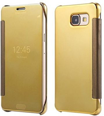 TGK Flip Cover for Samsung Galaxy A5 2016 Edition (A510)(Gold, Shock Proof)