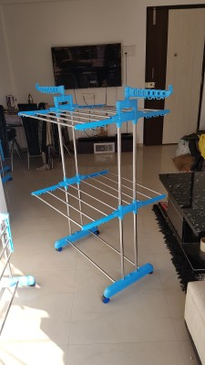 SUNDEX Steel Floor Cloth Dryer Stand STAINLESS STEEL PIPE – 007521(2 Tier)