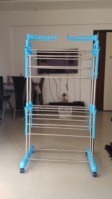 SUNDEX Steel Floor Cloth Dryer Stand yhko(2 Tier)
