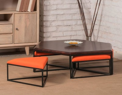 The Jaipur Living Arabia Solid Wood Coffee Table(Finish Color - Honey Brown)