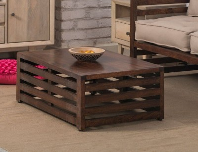 The Jaipur Living Arabia Mango Solid Wood Coffee Table(Finish Color - Honey Brown)