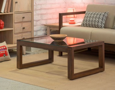 The Jaipur Living Altura Solid Wood Coffee Table(Finish Color - Honey Brown)