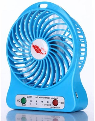 BUY SURETY Best Buy Rechargeable Portable 360 Degree rotating with cooling crystal Mini Fan For Kitchen/home Rotatable Clip Type Usb/table/ceiling Fresh Air Cooler With Fragrance Usb Mini Fan/cooler 4 Blade Table Fan(MULTICOLOR)  available at flipkart for Rs.239