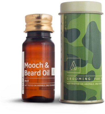 Ustraa Mooch and Beard Oil 4X4 For Men (35 ml) Hair Oil(35 g)