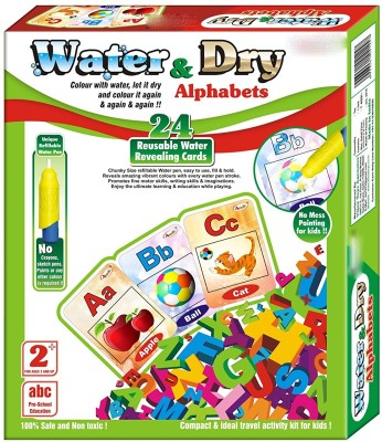 Grab Offers 2 In 1 Water And Dry Alphabets - 24 Cards For Kids.(Multicolor)