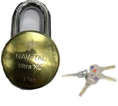 Godrej NAVTAL ULTRA XL+ LOCK 4 KEYS Padlock(GOLDEN)