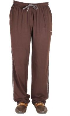 AVR Solid Men's Brown Track Pants