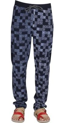 AVR Printed Men's Dark Blue Track Pants