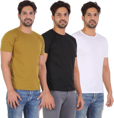 Viral Lifestyle Solid Men Round Neck Multicolor T-Shirt(Pack of 3)