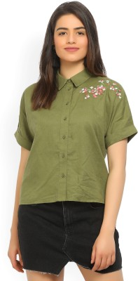 United Colors of Benetton Casual Half Sleeve Embroidered Women