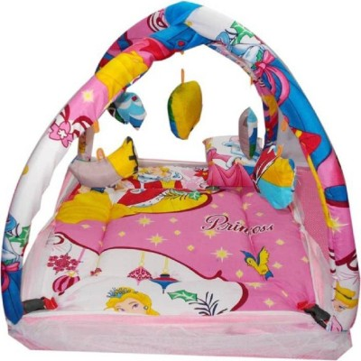 Lilliput baby bed Baby Bed With Mosquito Net Printed(Cotton, Multicolor)