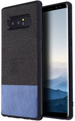 Kapa Back Cover for Samsung Galaxy Note 8(Black, Blue, Cloth, Artificial Leather)