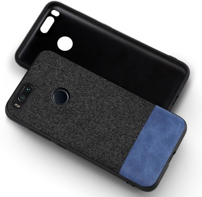 Kapa Back Cover for Mi A1(Black, Blue, Cloth, Artificial Leather)