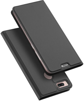 Kapa Flip Cover for Mi A1(Black, Artificial Leather)