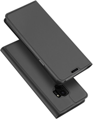 Kapa Flip Cover for Samsung Galaxy S9(Black, Artificial Leather)