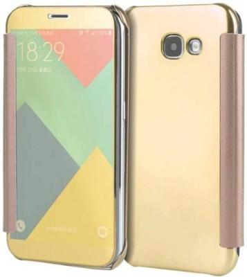 TGK Flip Cover for Samsung Galaxy J7 Max(Gold, Shock Proof)