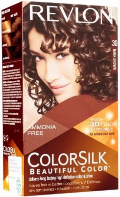 Revlon Dark Brown No-30 Hair Color(Colorsilk Beautiful Hair Color) Flipkart