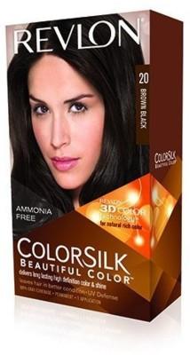 Revlon Brown Black No-20 Hair Color(Colorsilk Beautiful Hair Color) Flipkart