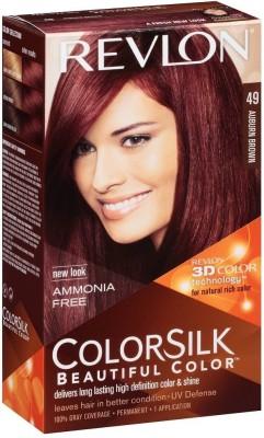 Revlon Auburn Brown No-49 Hair Color(Colorsilk Beautiful Hair Color) Flipkart