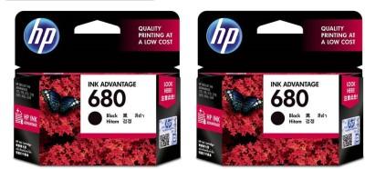 HP 680 Single Color Ink (Black) PACK OF 2 Single Color Ink(Black)