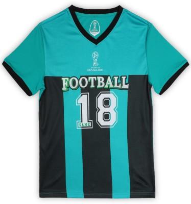 FIFA Girls Printed Polycotton T Shirt(Green, Pack of 1) at flipkart