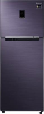 Samsung 394 L Frost Free Double Door 3 Star (2019) Refrigerator(Pebble Blue, RT39M5538UT/TL)