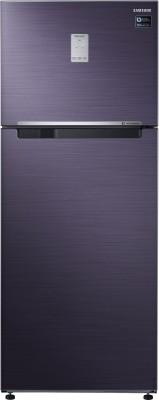 Samsung 465 L Frost Free Double Door 3 Star  2019  Refrigerator Pebble Blue, RT47K6238UT