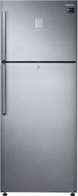 Samsung 465 L Frost Free Double Door 3 Star (2019) Refrigerator(EZ Clean Steel, RT47K6358SL)
