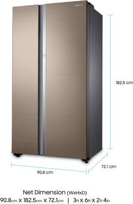 Samsung RH62K60177P/TL 674 Litres Double Door Refrigerator