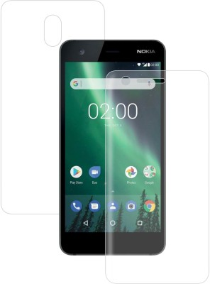 """Case Creation Front and Back Screen Guard for Nokia 2 5.00\"""" inch(Pack of 2)"""