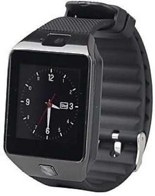 Enew DZ09-BLACK ENW-07 SMW phone BLACK Smartwatch(Black Strap Free Size)