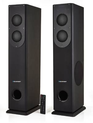 Blaupunkt TS-100 200 W Bluetooth Tower Speaker(Black, 2.0 Channel)