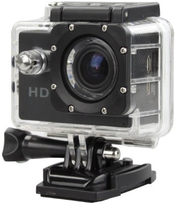 ALONZO SPORT ACTION CAMERA with Built-in detachable li-battery, easy to exchange, Support high capacity Micro S D/ T F card Up to 32 G B, Compatible with Android, I O S, Tablet- Black Sports and Action Camera(Black 12 MP) 1