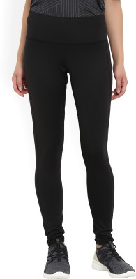 ADIDAS Solid Women Black Tights at flipkart