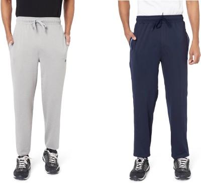 Athlete Solid Men's Grey, Dark Blue Track Pants