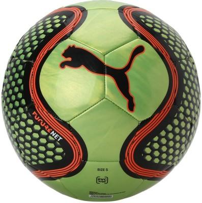 Puma FUTURE NET BALL Football - Size: 5(Pack of 1, Green)