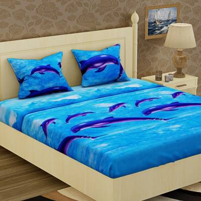 IWS 144 TC Microfiber Double Animal Bedsheet