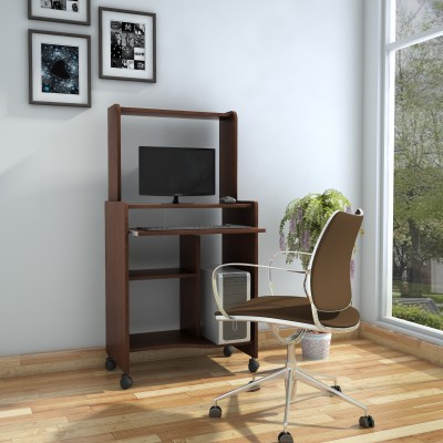 @home by Nilkamal Nork Engineered Wood Computer Desk(Straight, Finish Color - CAPPUCINO)