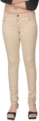 Fck 3 Slim Women Beige Jeans Fck 3 Women\'s Jeans