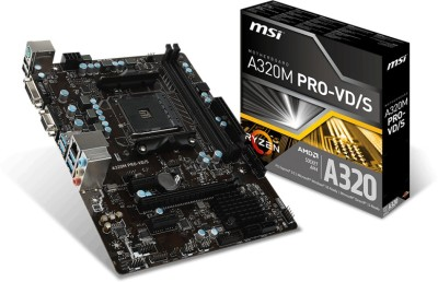 MSI A320M PRO-VD/S Motherboard(Black)