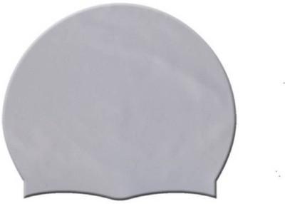 Tahiro Grey Colour Plain Swimming Cap Swimming Cap(Grey, Pack of 1)