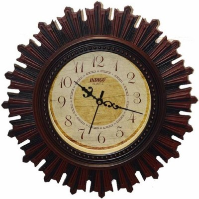 RICHI RICH INDIGO Analog Wall Clock(Brown, With Glass)  available at flipkart for Rs.599