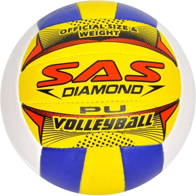 SAS Durable All-weather 18 Panel Volleyball - Size: 4(Pack of 1, Multicolor)