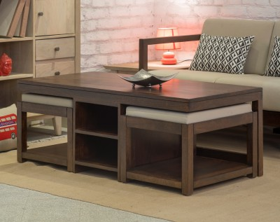 The Jaipur Living Claire Mango Solid Wood Coffee Table(Finish Color - Honey Brown)