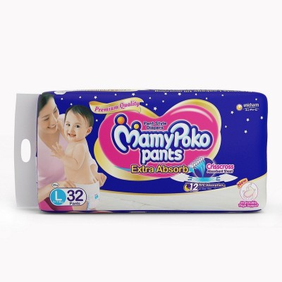 Mamy Poko Extra Absorb L Diapers (32 Pieces)