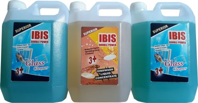 ibis 2 LTR DISINFECTANT GLASS CLEANER & 1 LTR DISHWASH LIQUID CONCENTRATE(3000 ml)