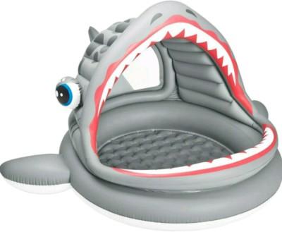 YAMAMA Intex Roaring Shark Shade Pool Inflatable Pool(Grey)